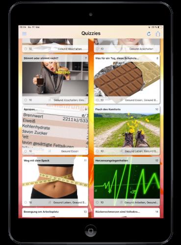 Quiz App von espoto auf dem iPad