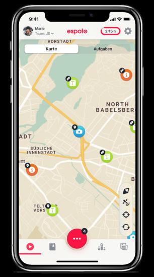 schnitzeljagd app iPhone kartenansicht