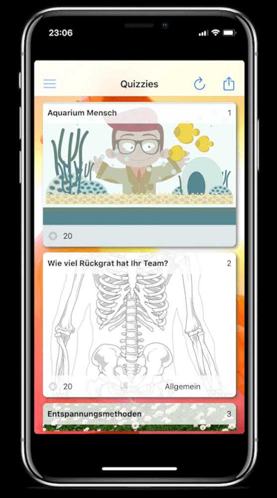 Quiz App von espoto auf dem iPhone